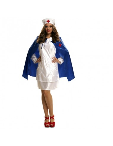Enfermera Con Capa Azul