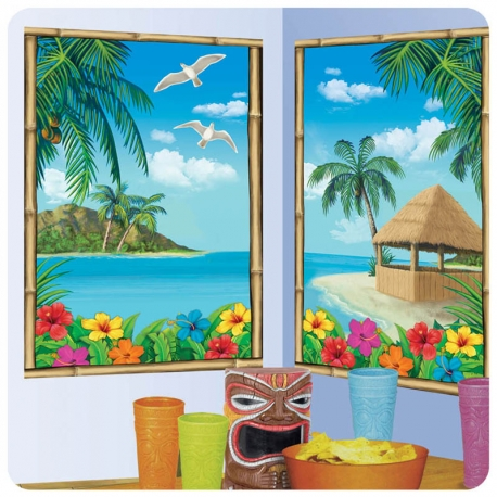POSTERS DECORATIVOS HAWAII 2 unidades