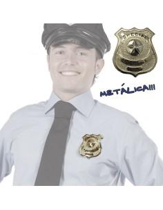 PLACA POLICIA METALICA