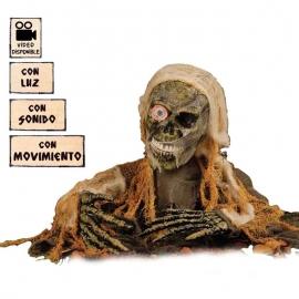 ESQUELETO CEMENTERIO LUZ,SON.Y MOV.35X120 CM.