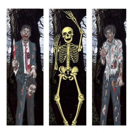 DECORACION ZOMBIES SURTIDOS  35 X 152 CMS.