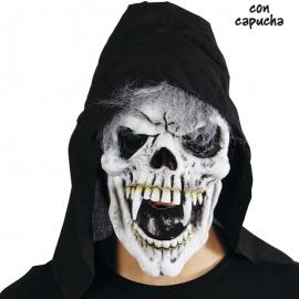 CARETA CALAVERA CON CAPUCHA