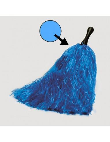 POM-POM DE RAFIA azul