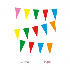 BANDERA PAPEL TRIANGULOS 10 m