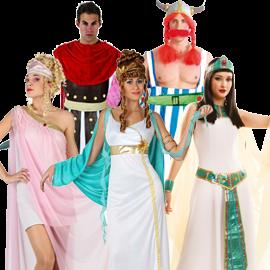 ROMANOS GALOS GRIEGOS EGIPCIOS